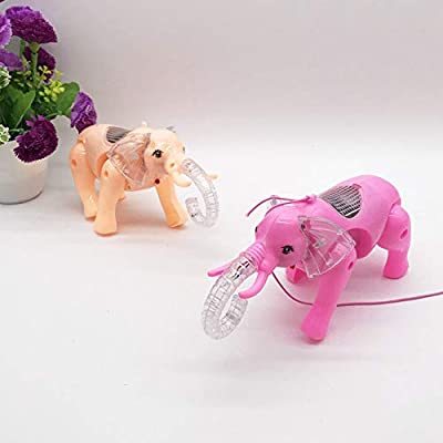 helegeSONG Kids Toys, Funny Electric Walking Flashing LED Elephant Animal Toy with Music Leash Kid Toy - Random Color: Toys & Games