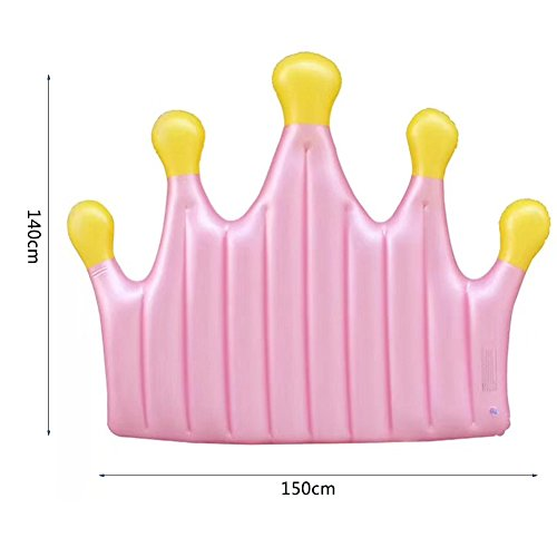 DMGF Queen Crown Inflatable Pool Floats Rapid Valves Swim Ring Toy Summer Beach Party Loungers Water Sport Raft Tube Floats For Adults Kids by DMGF (Image #4)