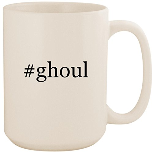 #ghoul - White Hashtag 15oz Ceramic Coffee Mug Cup (Monster High Ghouls Night Out 4 Pack)