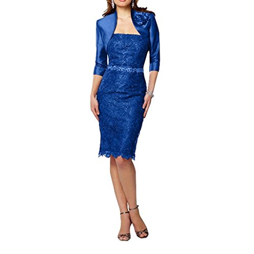Charmant Abendkleider Royal Lang Spitze Neu Partykleider Knie Blau Ballkleider Damen Fantastisch Figurbetont BTrq7B