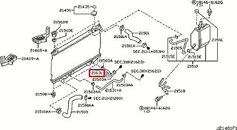 Terrific Amazon Com Infiniti Genuine Radiator Shroud Oil Cooler Auto Wiring Digital Resources Funapmognl