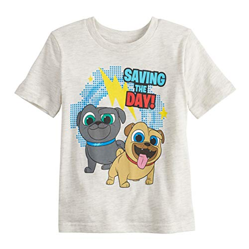 - Jumping Beans Toddler Boys 2T-5T Disney's Puppy Dog Pals Saving The Day Graphic Tee 5T Oatmeal Heather