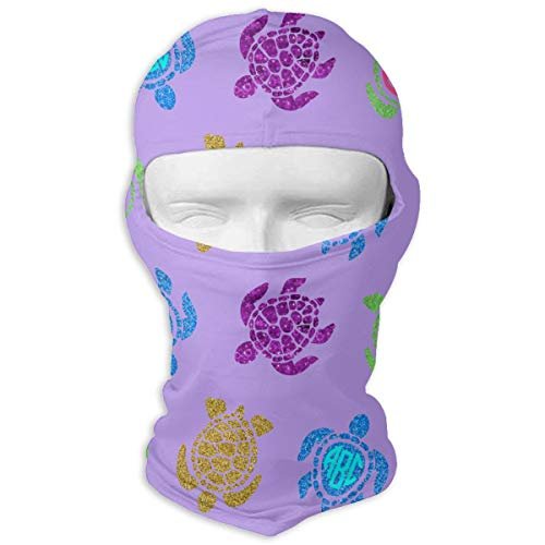 Leopoldson Tie Dye Turtle Pattern Balaclava UV Protection Windproof Ski Face Masks for Cycling Outdoor Sports Full Face Mask Breathable -