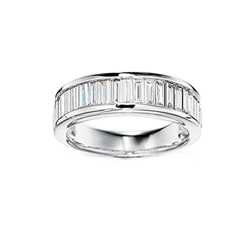 Ginger Lyne Collection Eternity Baguettes Anniversary Wedding Band (Baguette Anniversary Band)