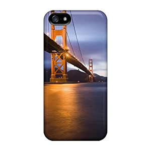 FuC13272jUuD Cases Covers Protector For Iphone 5/5s Golden Gate Bridge San Fransisco Cases