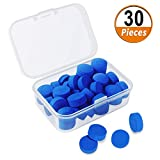 kulannder Cue Tips 10mm Pool Cue Tip Snooker Cue Tips Billiard Replacement Tips with Plastic Storage for Snooker and Pool Cues Accessories Cue Tips Blue 30 Pieces