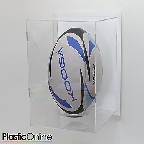 Balón de Rugby vitrina montado en la pared vertical – blanco ...