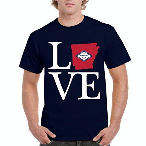 NIB Love Arkansas State Flag Traveler`s Gift Men's T-Shirt Tee (LNB) (Golf University Arkansas State)