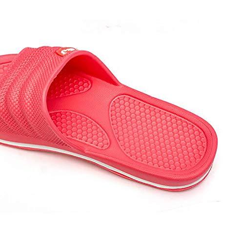 La Salle De Quatre Plastique 2 Résistant Sandales Beach Chaussures En L'usure Hotel Douche Couple Étanche Pantoufles Bains Antidérapant Pool À Maison Jlcp Bas Souple 5 Saisons 36 qtxCvwE11