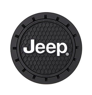 Plasticolor 000652R01 Jeep Logo Cup Holder Coaster