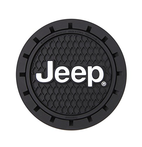 Plasticolor 000652R01 Jeep Logo Cup Holder Coaster