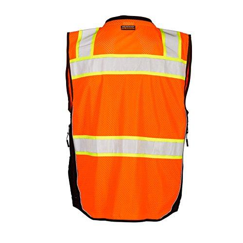 ML Kishigo - Premium Black Series Surveyors Vest - Orange Size: Medium by ML Kishigo (Image #2)