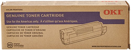 C6100 Series Magenta Toner (Okidata 43324418 Toner Cartridge for C6100 Series, 5000 Page Yield, Magenta)