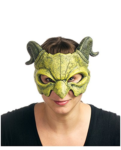 [Supersoft Dragon Mask, Green (Green)] (Puff The Green Dragon Dress)