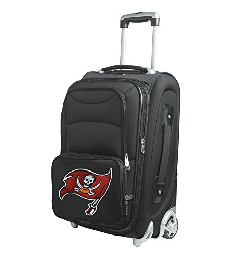 NFL Tampa Bay Buccaneers In-Line Skate Wheel Carry-On Luggage, 21-Inch, Black by Denco