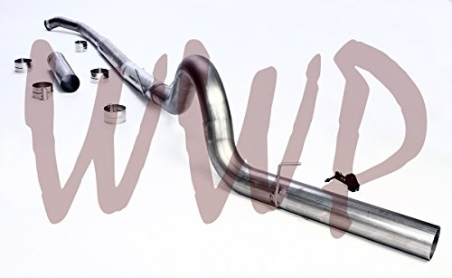 "Performance Racing Off Road SS409 Stainless Steel 5"" Turbo Back + Downpipe Down Pipe Included DPF Exhaust System Kit 2003-2004 Dodge Ram 2500 3500 Cummins 5.9L Diesel Pickup Truck"