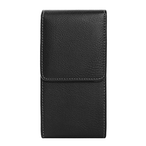 Leather Texture Clip - ZZJ Texture PU Leather Universal Vertical Belt Clip Holster Magnetic Closure Wallet Case for Apple iPhone 8 7 Plus/Samsung Galaxy S9+/S8+/HTC Desire 12/U11+