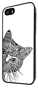 554 - Cool Aztec Cat Cute FunkyDesign For iphone 4 4S Fashion Trend CASE Back COVER Plastic&Thin Metal