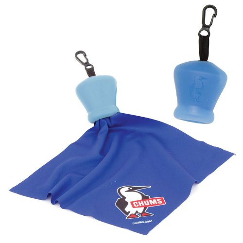 Chums Pouch Microfiber Cleaning Cloth, Blue by Chums