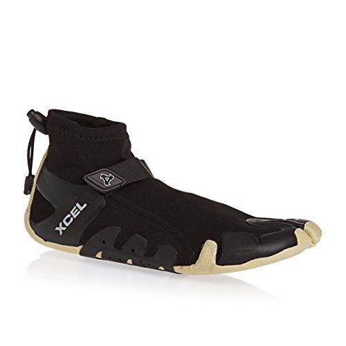 (Xcel Infiniti Split Toe Reef Boots, Black/Gum, Size 11/1mm)