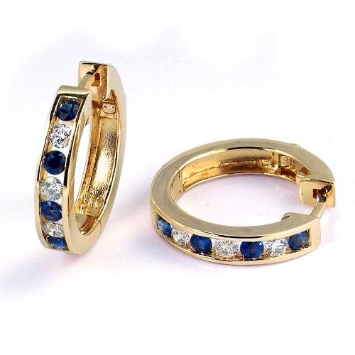 Channel Set Sapphire & Diamond