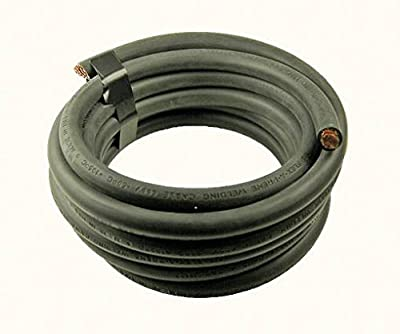 10 feet of 2 gauge black battery cable
