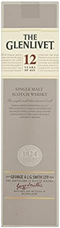 The Glenlivet 12 Years Old Single Malt Scotch Whisky 40% Vol. 0.7L In Giftbox - 700 ml