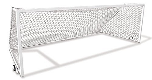 - First Team Golden Goal 44 Elite-PM 24 x 8 ft. Permanent Aluminum Soccer Goal44; White
