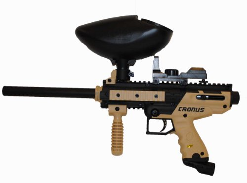 Tippmann Cronus CQB Paintball Gun with Electronic Red Dot Sight and Hopper Hopper Dot