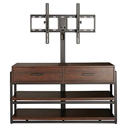 Amazon Com Threshold Mixed Material 3n1 Tv Stand Electronics