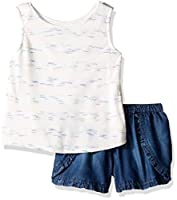 Limited Too Girls' Little Fashion Top and Short Set, 3104 Vanilla, 6