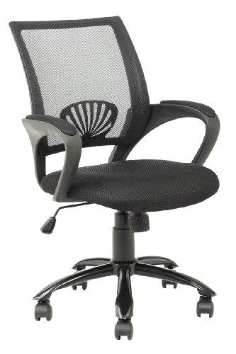 Mid Back Mesh Ergonomic Computer Desk Office Chair, Black, One - Mid Mesh Back