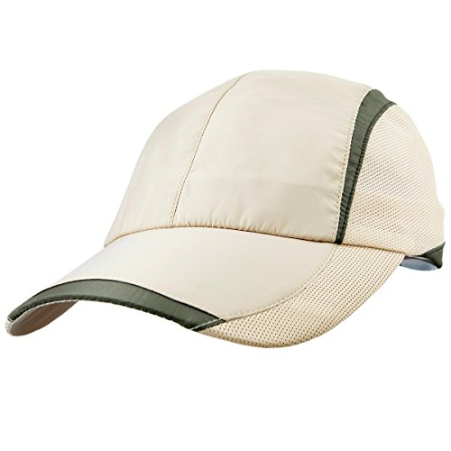 moonsix Unisex Baseball Cap,Lightweight Breathable Running Quick Dry Sport Hat,Style 3 Beige ()