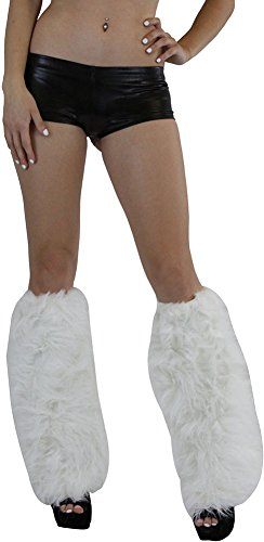 (ToBeInStyle Women's Faux Fur Knee Hi Leg Warmer -)