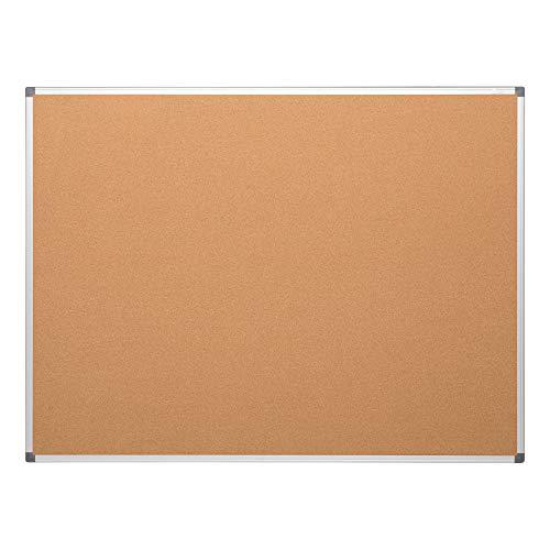 Learniture Natural Cork Board w/Aluminum Frame, 3' W x 2' H, LNT-127-2436-SO