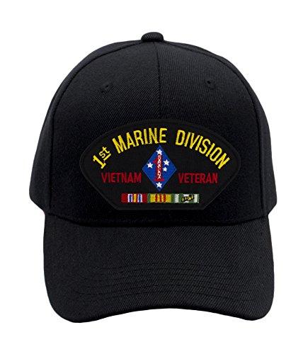 Patchtown USMC - 1st Marine Division - Vietnam Hat/Ballcap Adjustable One Size Fits Most (Marine Hat Division)