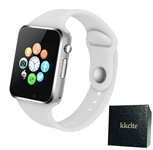 Smart Watch KKCITE Sweatproof Bluetooth Smartwatch Phone for Samsung Nexus6 Htc Sony and Android Smartphones Support Sleep Monitor, Push Message, Camera Unlocked Watch Men Women Kids