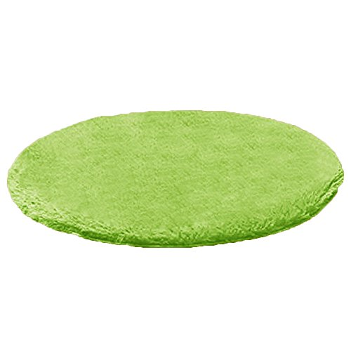 Dotesy Soft Furry Round Area Rugs for Baby Living Room Bedroom Home Shag Carpet 4-Feet,Apple Green by Dotesy