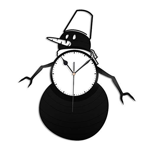 VinylShopUS - Snowman Vinyl Wall Clock Cartoon Unique