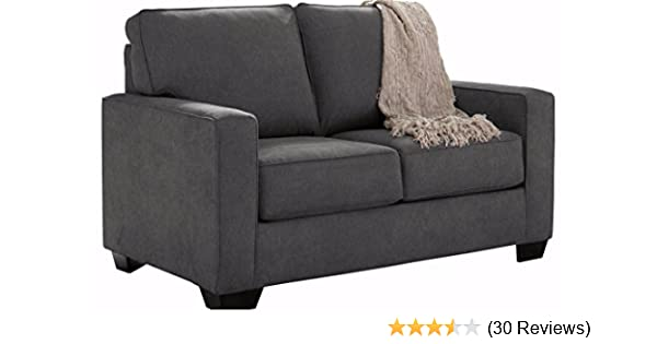 Amazing Amazon Ashley Furniture Signature Design Zeb Sleeper Sofa Contemporary Style Couch Twin Size Charcoal Kitchen & Dining HD - Style Of loveseat sofa beds Inspirational