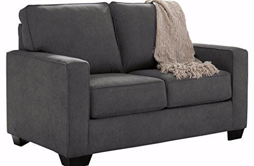 Ashley Furniture Signature Design - Zeb Sleeper Sofa - Contemporary Style Couch - Twin Size - Charcoal (Sleeper Twin Couch)