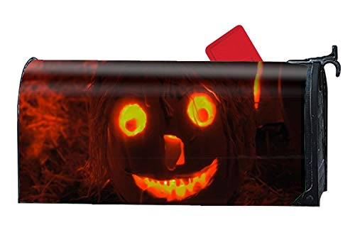 FunnyLife History Halloween Mailbox Makover Cover - Vinyl witn Magnetic Strips Steel Standard Mailbox -