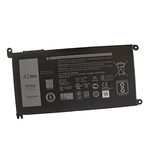 Dentsing 42Wh WDX0R Laptop Battery For DELL Inspiron 15 5568 7560 5567 / 13 7368 Series / Inspiron 13 5378 14-7460 / INS 13MF PRO-D1508TS / INS 13MD PRO-D1708TS  3crh3 I7368-0027  WDXOR
