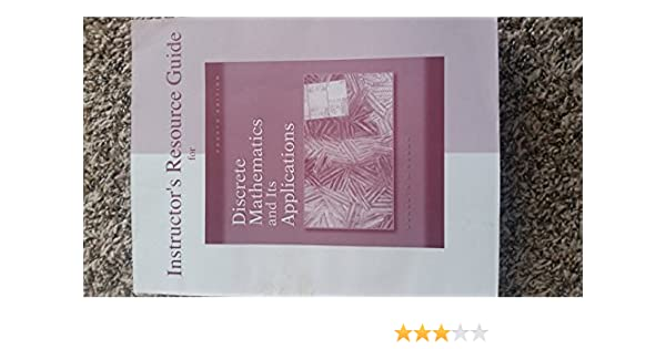 Amazon discrete mathematics instructors manual 9780072899078 amazon discrete mathematics instructors manual 9780072899078 rosen books fandeluxe Image collections