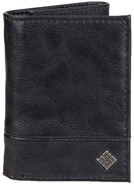 Columbia Mens Blocking Trifold Wallet