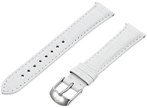 MICHELE MS16AA010100 16mm Leather Alligator White Watch Strap