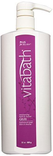 Vitabath Moisturizing Bath & Shower Gelee, Plus For Dry Skin, 32-Ounces