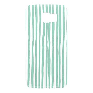 Loud Universe Samsung Galaxy S6 3D Wrap Around Confetti Pattern Print Cover - Green/White