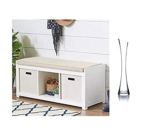 Fabulous 3 Cube Organizer Storage Bench White Pabps2019 Chair Design Images Pabps2019Com