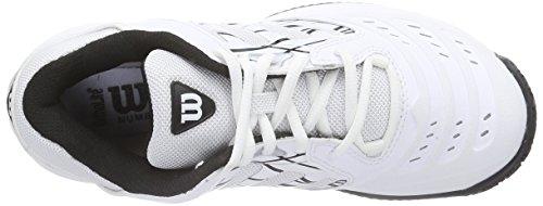 Wilson Tour Vision Iv Scarpe Da Tennis Da Donna Multicolore (bianco / Argento / Nero)